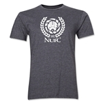 Newcastle United Distressed Men's Fashion T-Shirt (Dark Gray)