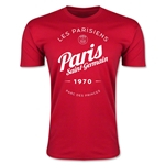 Paris Saint-Germain Circle Script T-Shirt (Red)