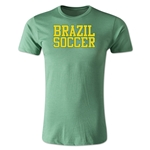 Brazil Soccer Supporter Men's Fashion T-Shirt (Heather Green)