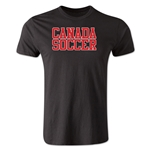 Canada Soccer Supporter Men's Fashion T-Shirt (Black)