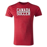 Canada Soccer Supporter Men's Fashion T-Shirt (Heather Red)