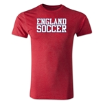 England Soccer Supporter Men's Fashion T-Shirt (Heather Red)