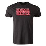 Georgia Soccer Supporter Men's Fashion T-Shirt (Black)