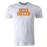 India Soccer Supporter Men's Fashion T-Shirt (White)