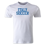 Italy Soccer Supporter Men's Fashion T-Shirt (White)