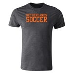 Netherlands Soccer Supporter Men's Fashion T-Shirt (Dark Gray)