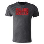 Poland Soccer Supporter Men's Fashion T-Shirt (Dark Gray)