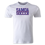 Samoa Soccer Supporter Men's Fashion T-Shirt (White)