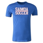 Samoa Soccer Supporter Men's Fashion T-Shirt (Royal)