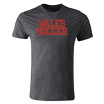 Wales Soccer Supporter Men's Fashion T-Shirt (Dark Gray)