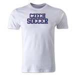 Czech Soccer Supporter Men's Fashion T-Shirt (White)