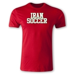 Iran Soccer Supporter Men's Fashion T-Shirt (Red)