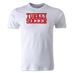 Turkey Soccer Supporter Men's Fashion T-Shirt (White)