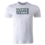 Sweden Soccer Supporter Men's Fashion T-Shirt (White)