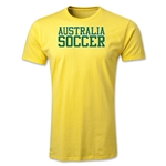 Australia Soccer Support Men's Fashion T-Shirt (Yellow)