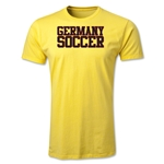 Germany Soccer Supporter Men's Fashion T-Shirt (Yellow)