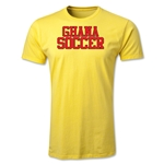Ghana Soccer Supporter Men's Fashion T-Shirt (Yellow)