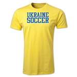 Ukraine Soccer Supporter Men's Fashion T-Shirt (Yellow)