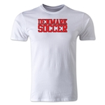 Denmark Soccer Supporter Men's Fashion T-Shirt (White)