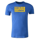Ecuador Soccer Supporter Men's Fashion T-Shirt (Royal)