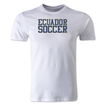 Ecuador Soccer Supporter Men's Fashion T-Shirt (White)