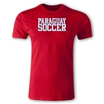 Paraguay Soccer Supporter Men's Fashion T-Shirt (Red)