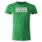 Saudi Arabia Soccer Supporter Men's Fashion T-Shirt (Green)