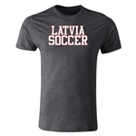 Latvia Soccer Supporter Men's Fashion T-Shirt (Dark Gray)