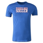 Puerto Rico Soccer Supporter Men's Fashion T-Shirt (Royal)