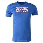 Cape Verde Soccer Supporter Men's Fashion T-Shirt (Royal)