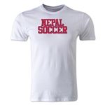Nepal Soccer Supporter Men's Fashion T-Shirt (White)