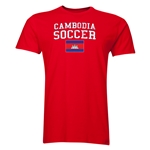 Cambodia Soccer T-Shirt (Red)