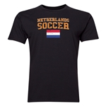 Netherlands Soccer T-Shirt (Black)