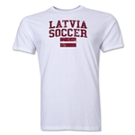 Latvia Soccer T-Shirt (White)
