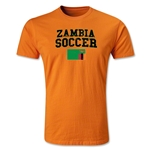 Zambia Soccer T-Shirt (Orange)