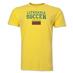 Lithuania Soccer T-Shirt (Yellow)