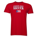 Puerto Rico Soccer T-Shirt (Red)