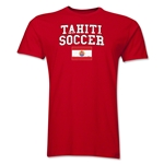 Tahiti Soccer T-Shirt (Red)
