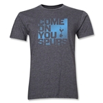 Tottenham Come On You Spurs Men's Fashion T-Shirt (Dark Gray)