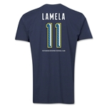 Tottenham Lamela Men's Fashion T-Shirt (Navy)