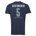 Tottenham Vertonghen Men's Fashion T-Shirt (Navy)