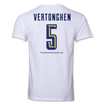 Tottenham Vertonghen Men's Fashion T-Shirt (White)