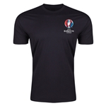 Euro 2016 Crest Men's Fashion T-Shirt (Black)