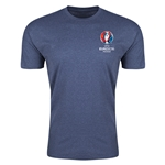 Euro 2016 Crest Men's Fashion T-Shirt (Blue)