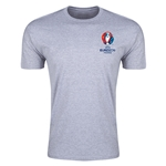 Euro 2016 Crest Men's Fashion T-Shirt (Gray)