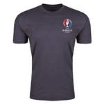 Euro 2016 Crest Men's Fashion T-Shirt (Dark Gray)
