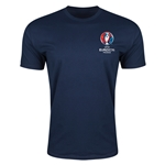 Euro 2016 Crest Men's Fashion T-Shirt (Navy)