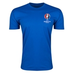 Euro 2016 Crest Men's Fashion T-Shirt (Royal)