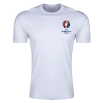 Euro 2016 Crest Men's Fashion T-Shirt (White)