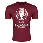 Euro 2016 Men's Fashion T-Shirt (Maroon)